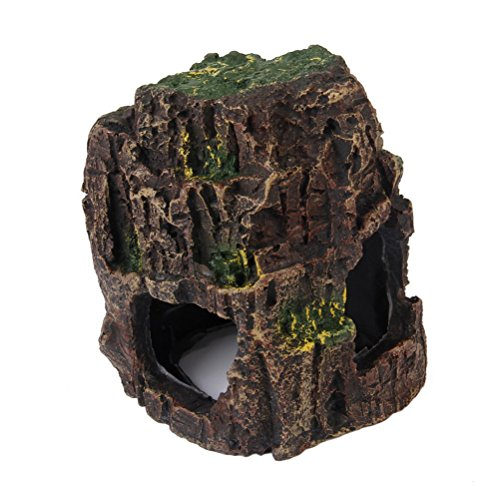 VORCOOL Aquarium Sea Rock Cave Ornament for Fish Tank