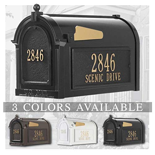 Personalized Whitehall Capitol Mailbox with Door & Side Address Plaques Personalized Mailbox (3 Colors Available)