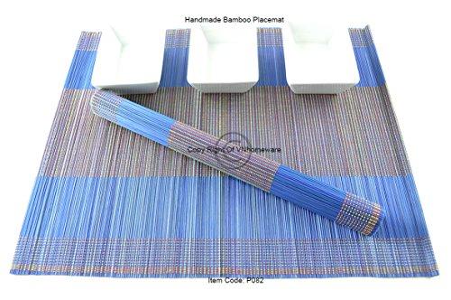 4 faite à la main en bambou Sets de table, sets de table, Lot de 4, Myrtille, P082 filtre