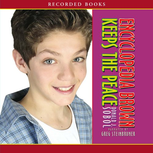 Encyclopedia Brown Keeps the Peace audiobook cover art