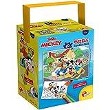 Lisciani - Puzzle in a Tub Doble Cara con Reverso para Colorear 60 Piezas con 4 rotuladores incluidos Disney Mickey Mouse Puzle para niños a partir de 3 años (86177)
