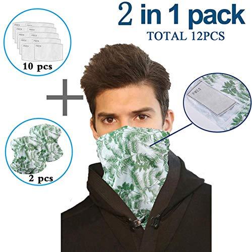 renzhen Multifunktionaler Kopftuch, Halstuch mit Sicherheitsfilter, Magic Scarves Face Mesh Stirnband Bandana Schal Damen, D, CHINA