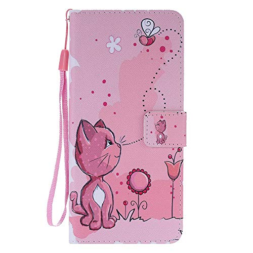 Phone Case for Samsung Galaxy S20 Ultra Leather Case, Premium Flip Leather Wallet Phone Case PU Cover [Kickstand] [Card Slots] [Magnetic Closure] Full Protection Cover - Cat and bee