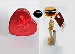 kashish trading company - decoarting Message Bottle Gift and Heart Box Teddy with Rose