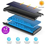 Solar Power Bank 26800mAh, HETP 【2020 Newest Solar Portable Charger】 Portable Charger External Backup Battery Pack with… 3