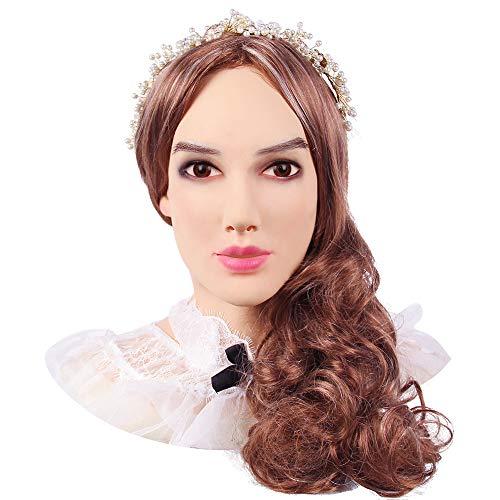 KUMIHO Silikon Maske Realistische Weibliche Masken Halloween Maske Ostern Weihnachtsmasken Cosplay Männlich zu Weiblich für Crossdresser Transgender-Vierte Generation-Beatrice-1