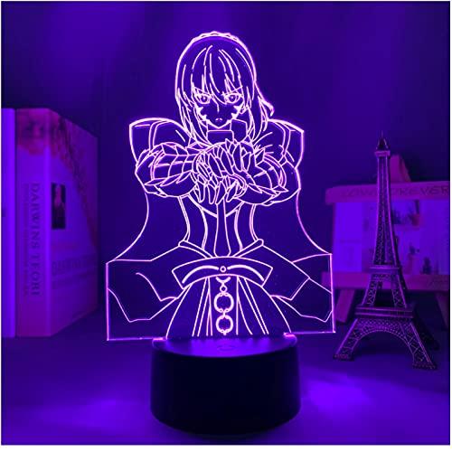 Anime 3D lámpara destino estancia noche sable para dormitorio decoración regalo de cumpleaños manga destino estancia noche sable led noche luz lámpara