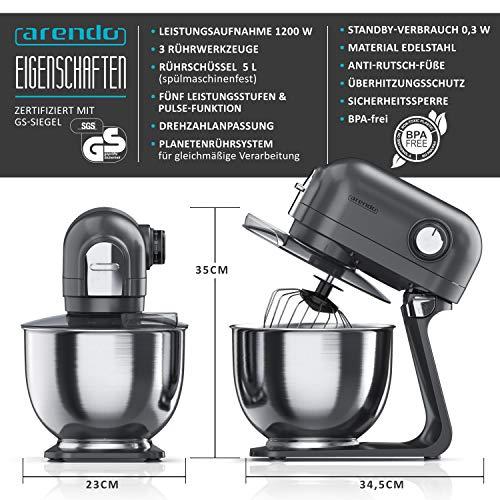 Arendo Kitchen Machine Cool Grey - 2