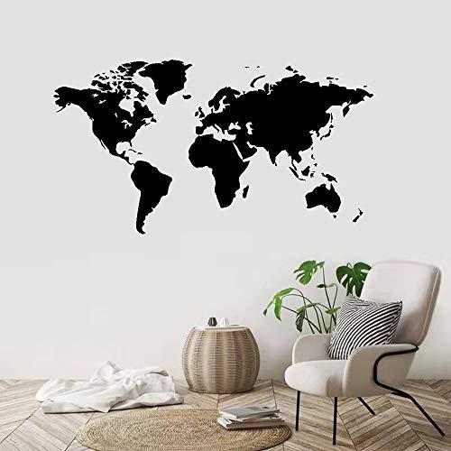Calcomanía de mapa del mundo estándar de gran tamaño empresa de oficina de viajes globales sala de estar decoración del dormitorio vinilo adhesivo para pared arte mural cartel papel tapiz