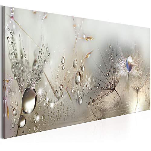 murando Acrylglasbild Pusteblume 135x45 cm 1 Teile Wandbild auf Acryl Glas Bilder Kunstdruck Moderne Wanddekoration - Blumen Natur grau Pusteblumen b-C-0169-k-b