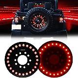 Wrangler 3rd Brake Light Red for Spare Tire, Jeep LED Brake Lights 25 LEDS Jeep Wrangler Spare Tire Brake...