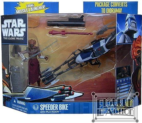 Hasbro 94737 Vorteil Miniatur + Figur Clone Wars Pirate Speeder Bike with CAD BANE