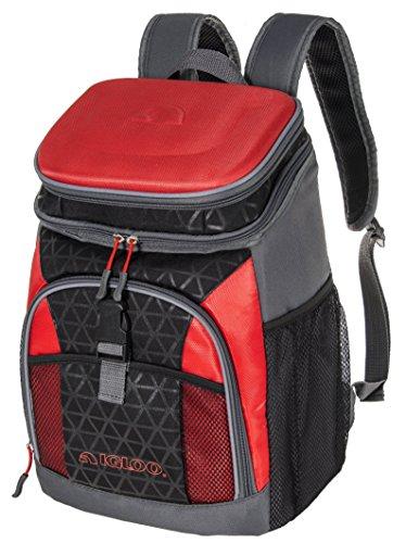Igloo Hard Top Backpack Sport Brights, Black/Red