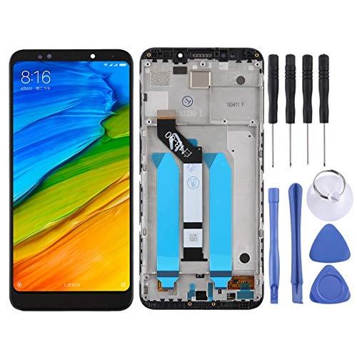 meihansiyun Accesorios de un teléfono Pantalla LCD y Montaje Completo de digitalizador con Marco para el Accesorio Xiaomi Redmi 5 Plus (Color : Black)