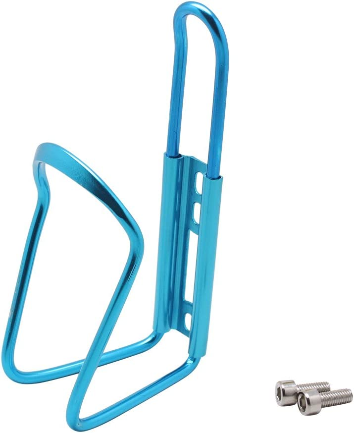 Homgaty Aluminum Alloy Water Bottle Holder Rack Bracket Cage For Bicycle Bike With 2 Screws