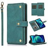 SCRENDY Funda para Samsung Galaxy Note 20 Ultra Case, Cartera de Cuero Real Suave para Celular Monedero para Mujer Monedero para Mujer Bolso para Teléfono Crossbody-Azul