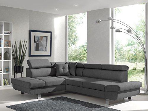 Bestmobilier - Lisbona - Canapé d'angle Gauche Convertible - L 252 x P 190cm