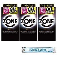 ZONE ゾーン コンドーム 6個入×3箱 + ファイティングスピリットローション12mLセット
