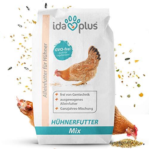 Ida Plus - Hühnerfutter Mix 25 Kg - Ausgewogenes Alleinfutter - Ganzjahresmischung, GVO-frei auch für Legehennen - Bestens für Futterautomaten geeignet - Enthält Calcium und Vitamine