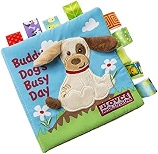 Dog Story Cloth Books, Baby's First Non-Toxic Fabric Soft Cloth Book Set Crinkle,Colorful,Squeak,Rattle Rustling Sound Activity Learning Toys for Toddler, Infants and Kids