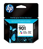 HP 901 CC656AE pack de 1, cartouche d'encre d'origine, imprimantes HP OfficeJet, trois couleurs (cyan, magenta, jaune)