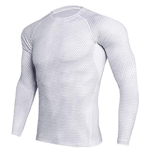Mallas para Hombre Entrenamiento Deportes Fitness Correr Sudadera de Manga Larga Secado rápido Camiseta de Manga Larga Ropa