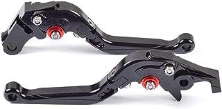 CZSM Kupplungshebel, 1 Paar verstellbare Falten CNC Bremskupplungshebel Kompatibel mit Kawasaki H2 / H2R 2015 2018, Ninja 400R 2011 Versys X300 X250 2017,Schwarz,versys X300 X250 2017