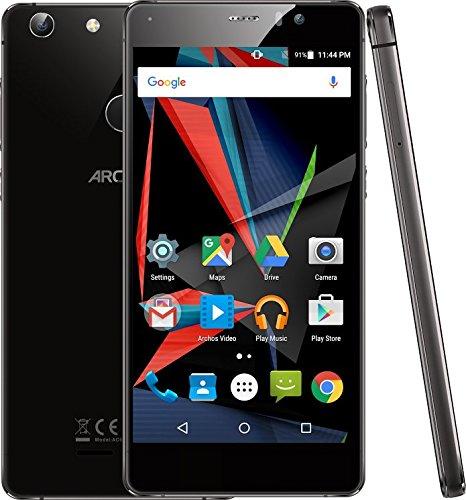 Archos Diamond Selfie Lite Smartphone débloqué 4G (Ecran: 5,5 pouces - 16 Go - Double SIM - Android) Noir