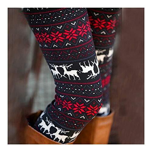 XBECO 2PCS De Las Polainas De Las Mujeres Otoño Invierno Chica Legging Partes Inferiores del Copo De Mallas De Impresión Ropa Jeggings Buena Elasticidad (Color : 4, Size : One Size)