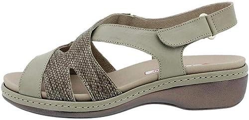 Zapato Cómodo damen Sandalia Plantilla Extraíble 180813 PieSanto