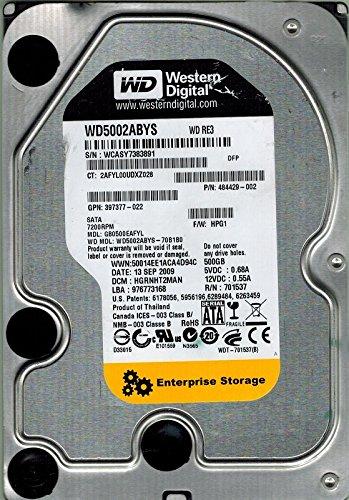 Western Digital wd5002abys-70b1b0500GB DCM: hgrnht2man