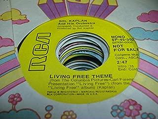 SOL KAPLAN 45 RPM Living Free Theme / SAME