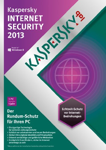 Kaspersky Internet Security 2013 3 Lizenzen (DVD-Box)