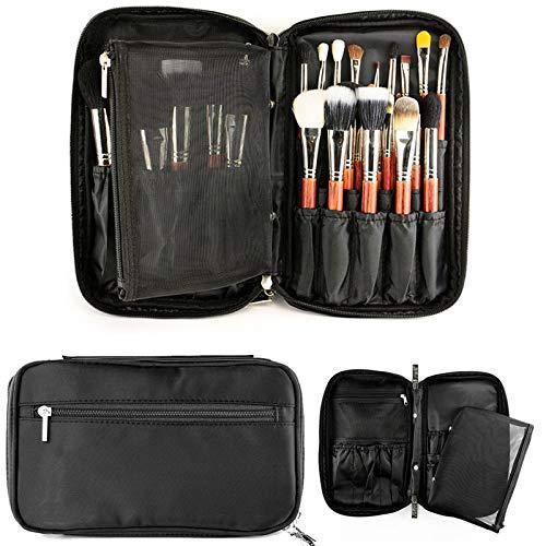 Make-up kwast organisator Cosmetci kunstenaar case houder met riem multifunctionele make-up tas canvas handtas voor reizen en thuis (zonder kwast)