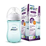 Philips Avent Natural Flasche SCF033/15, 260 ml, naturnahes Trinkverhalten, Anti-Kolik-System, türkis, 1er Pack