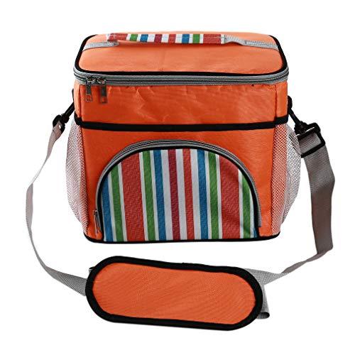 Yeucan Oxford Insulation Bags Milchkonservierungskühler Paket Einkaufstasche Picknickbox mit Schultergurt, Orange