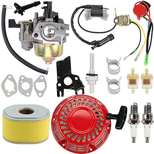 Venseri GX160 Carburetor GX140 Carb Kit GX160 Recoil Starter Air Filter for Honda GX140 GX 160 GX168 GX200 5HP 5.5HP 6.5HP Engine Motor Parts
