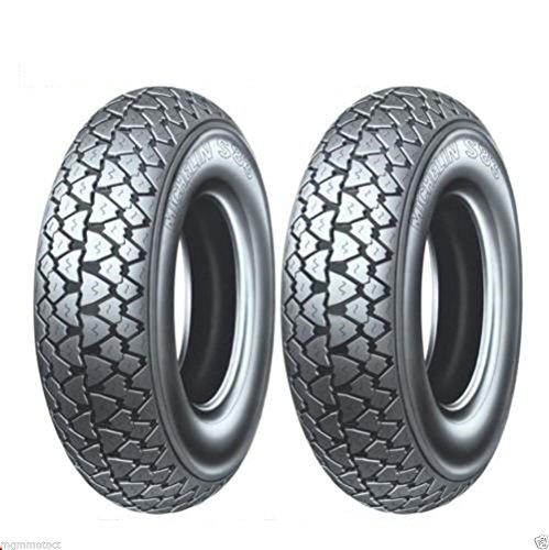 Michelin - S83 - Paire de pneus 3.50-10 51J TL pour LML Star 125-150-200