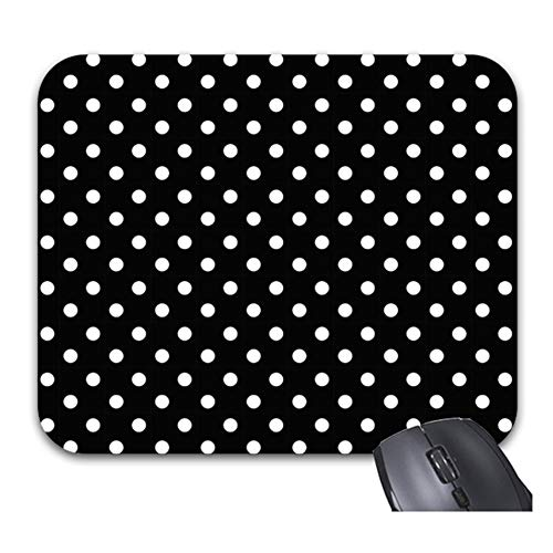 """Smity 106 Black and White Polka Dot Mouse Pads Trendy Office Desktop Accessory Large Size 11.8 x 9.8"""""""