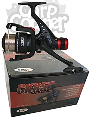 CK50 Match & Coarse Fishing Reel With Rear Drag Pre Loaded With Brown 8lb Line from Carp Corner