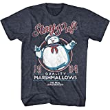 Brand New Item The Real Ghostbusters Staypuft Navy Heather Adult T-Shirt Tee Officially Licensed Color: Navy Material: Cotton/Polyester Blend