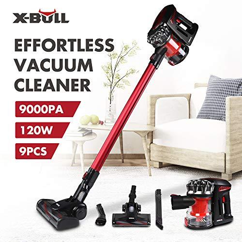 X-BULL Aspiradoras Verticales Alta Eficiencia Succión Fuerte Cordless Vacuum Cleaner