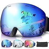 amzdeal Occhiali da Sci OTG, Maschera da Sci Snowboard Antivento Anti Fog Protezione 100% ...