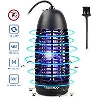 DEKINMAX Lámpara Anti Mosquitos, Trampa Insectos 6W UV contra Mosquitos, Moscas, Polillas para Uso Interiores