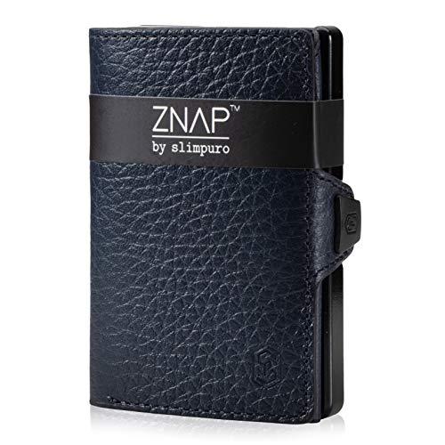 ZNAP Tarjetero RFID Metálico con Compartimento para Monedas – Mini Cartera con Monedero...