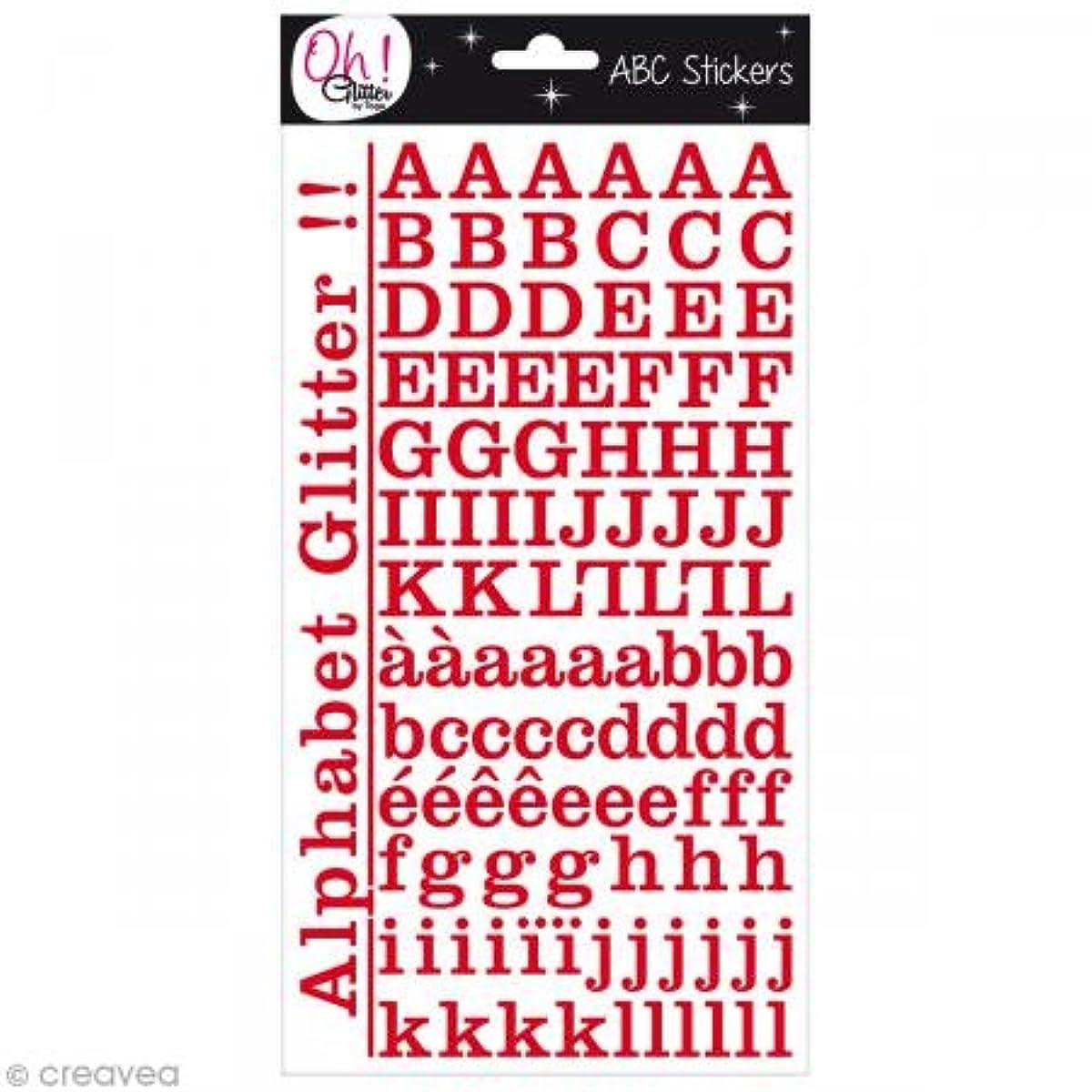Oh ! Glitter Alphabet Stickers, Paper, Red, 14.5?x 29.5?x 0.2?cm