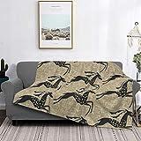 Manta de microfibra ultrasuave para decoración del hogar, manta de franela cálida antipilling para sofá, cama, campamento de 60 x 50 pulgadas, gacelas galopantes en Fawn