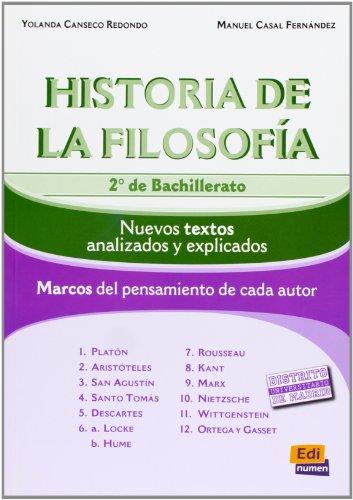 Historia De La Filosofía. Bachillerato 2 - Edición 2012 - 9788498481150