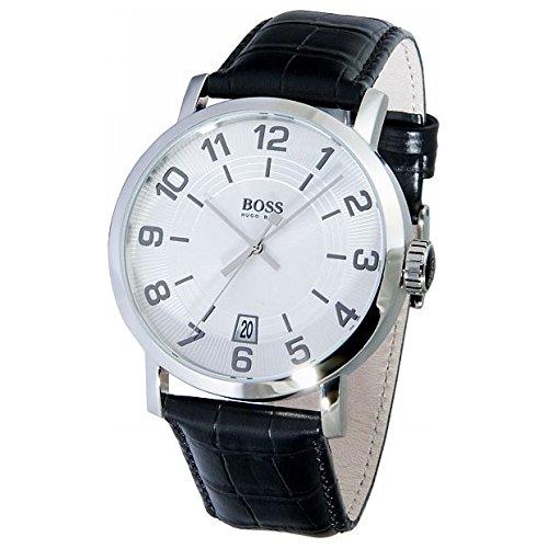 Hugo Boss 1512363 - Reloj de Caballero de Cuarzo, Correa de Piel Color Negro