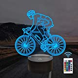FULLOSUN Mountain Bike,Road Bike Riding 3D Visual Illusion Night Light,Cycling Decor Lamp,16 Colors